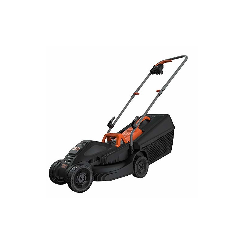 BLACK + DECKER Lawnmower BEMW351, 32cm (black / orange, 1,000 watts)