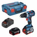 Bosch cordless drill GSR 18V-60 C Professional(blue / black, L-BOXX, 2x Li-ion battery 5.0 Ah)