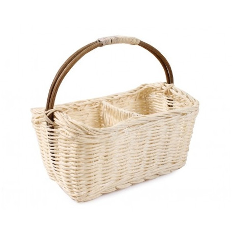 4276b8bb29f Rattan basket with a compartment 20x12x10 / 21h cm different colors