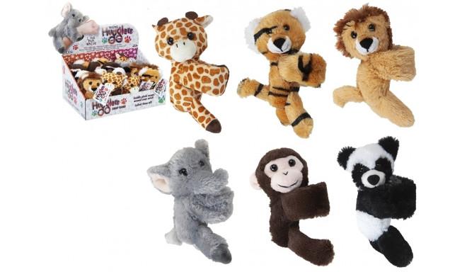12 cm Zoo Snapband Plush Mini Hugglers 24pce Cdu 6 Asst