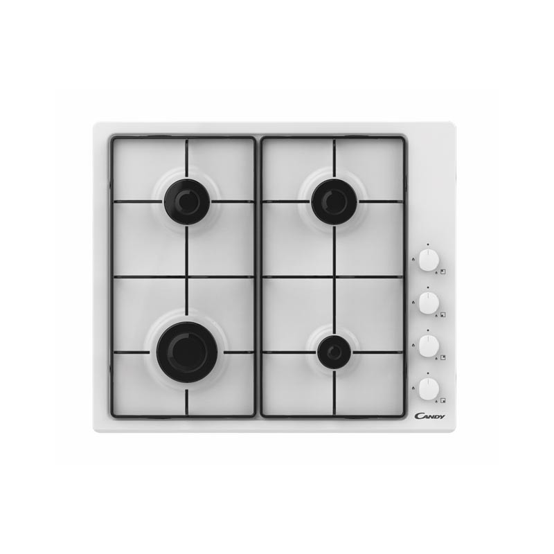 Candy Hob CHW6LWW Gas, Number of burners/cook