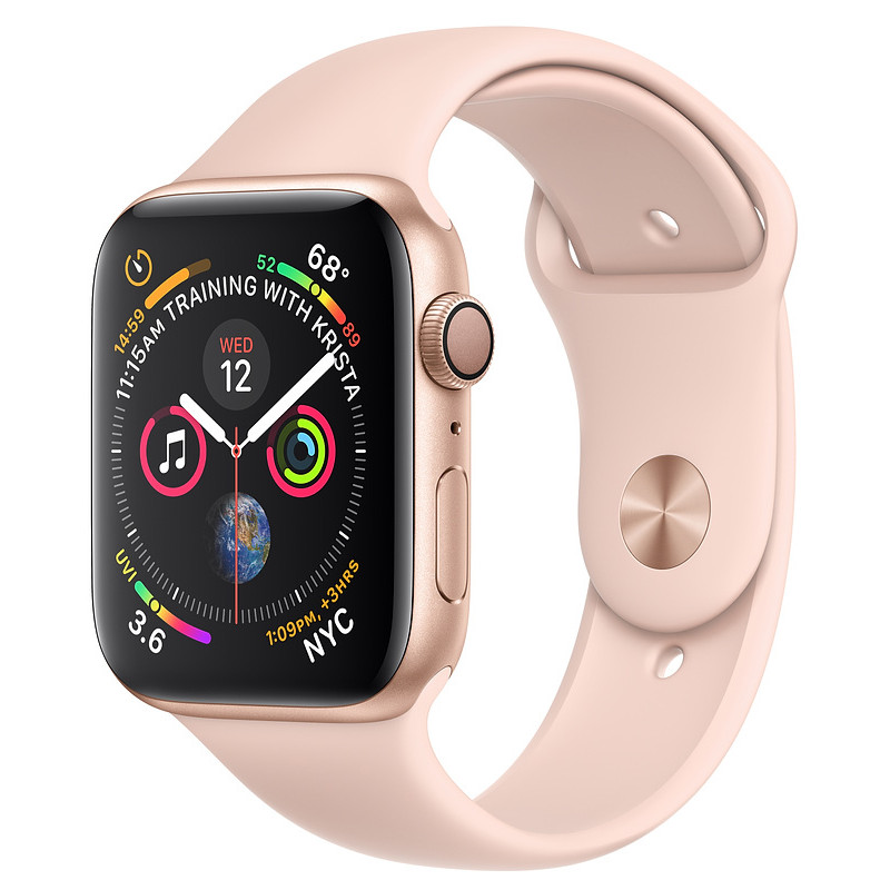 Apple Watch 4 GPS 40mm Sport Band, pink sand