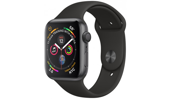 Apple Watch 4 GPS 40mm Sport Band, melns