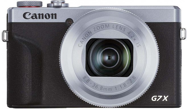 Canon Powershot G7 X Mark III, sudrabots