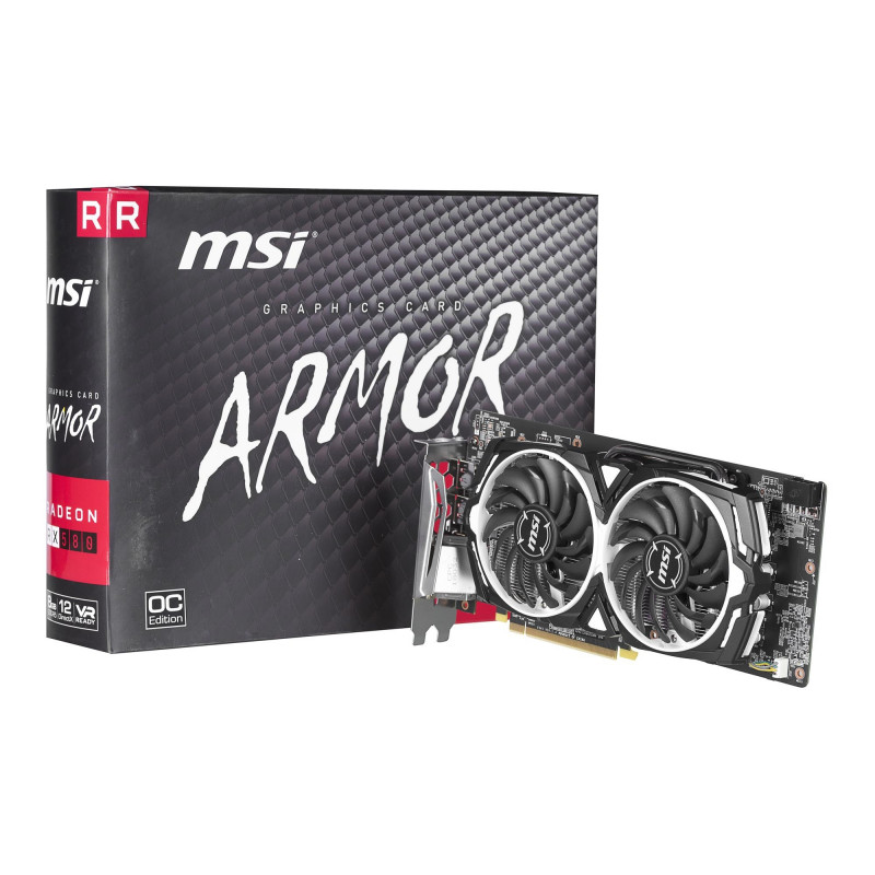 MSI graphics card Radeon RX580 Armor OC 8GB 256bit