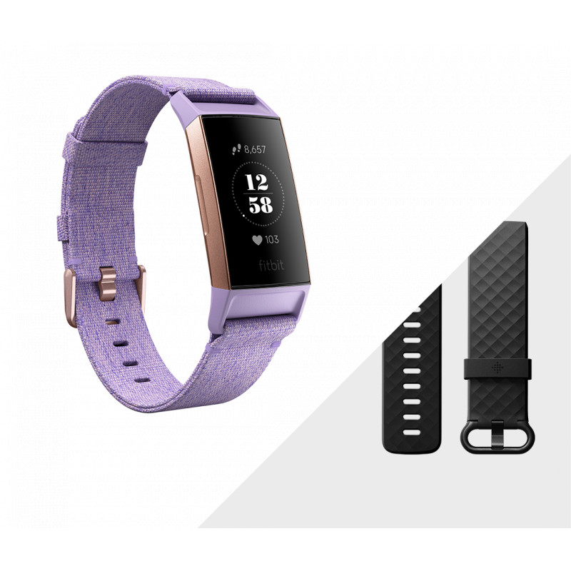 Fitbit aktiivsusmonitor Charge 3 Special Edition, lavendel/rose gold