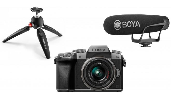 Panasonic Lumix DMC-G7 Youtuber Kit, hõbedane