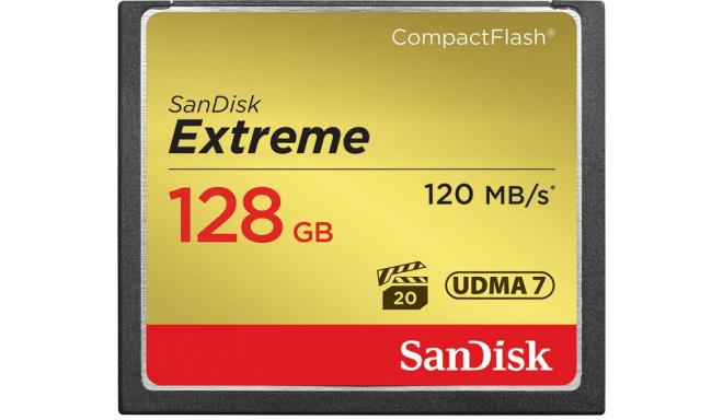 SanDisk mälukaart CF 128GB Extreme 120MB/s