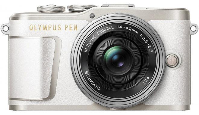 Olympus PEN E-PL9 + 14-42mm EZ Kit, balts/sudrabots