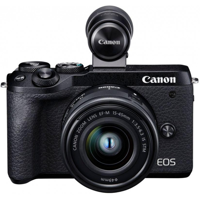 Canon EOS M6 Mark II + 15-45mm IS STM + pildiotsija, must