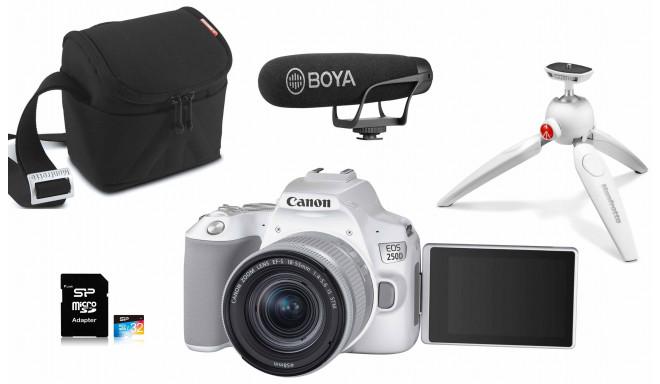 Canon EOS 250D Youtuber Kit, белый