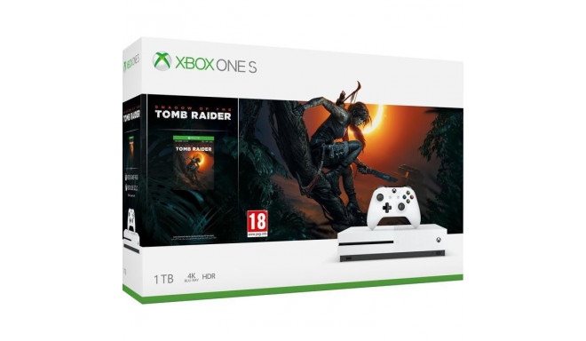 CONSOLE XBOX ONE S 1TB WHITE/GAME S.O.TOMB RAIDER MICROSOFT