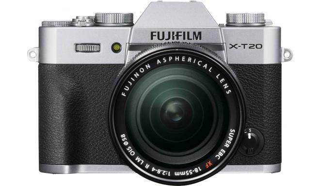 Fujifilm X-T20 + 18-55mm Kit, sudrabots
