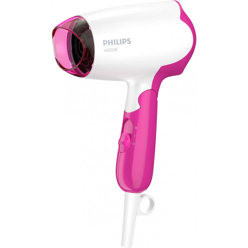 Philips hair dryer DryCare Essential BHD003/00, white/pink