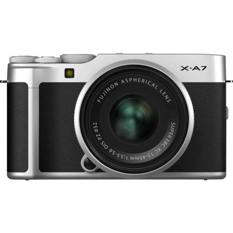 Fujifilm X-A7 + 15-45mm Kit, silver