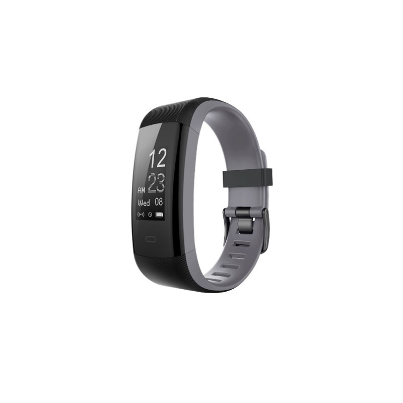 Heart rate monitor smartband, black