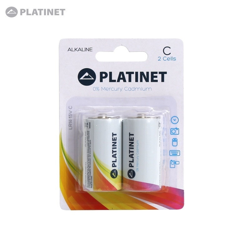 Platinet Battery C 2 Lr14 1 5v Alkaline Long Lasting Batteries