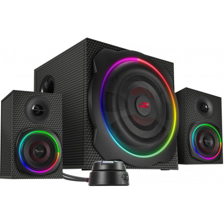 Speedlink speakers Gravity Carbon RGB 2.1 (SL-830100-BK)