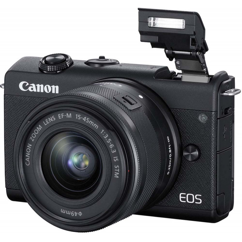 Canon EOS M200 + EF-M 15-45mm IS STM, must