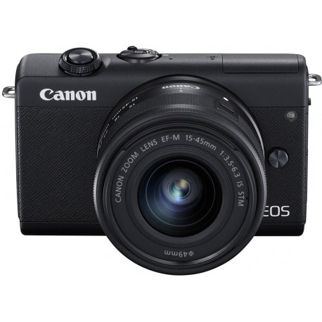 Canon EOS M200 + EF-M 15-45mm IS STM, melns