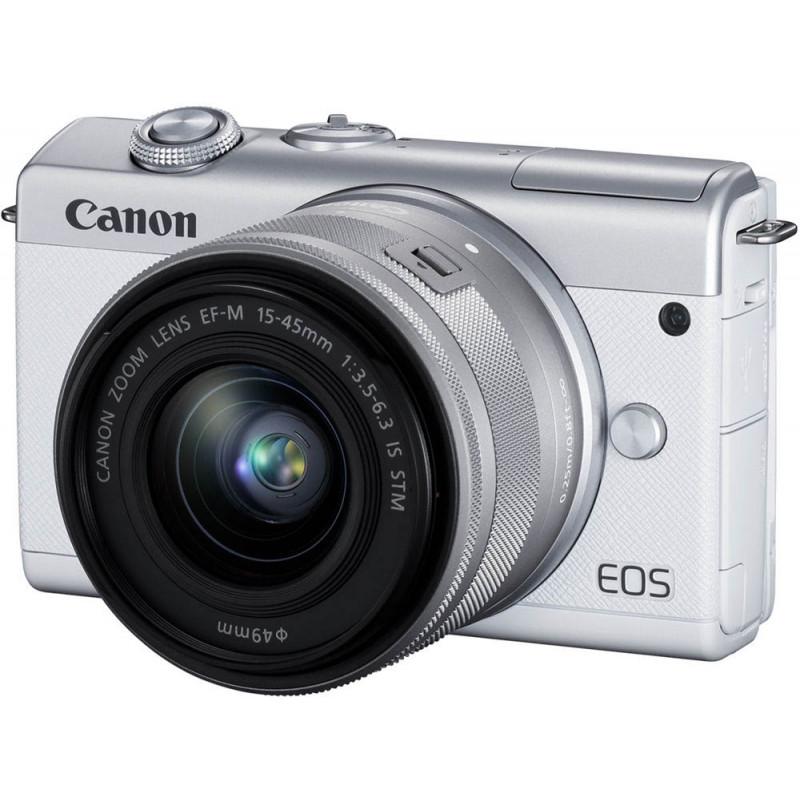 Canon EOS M200 + EF-M 15-45 мм IS STM, белый