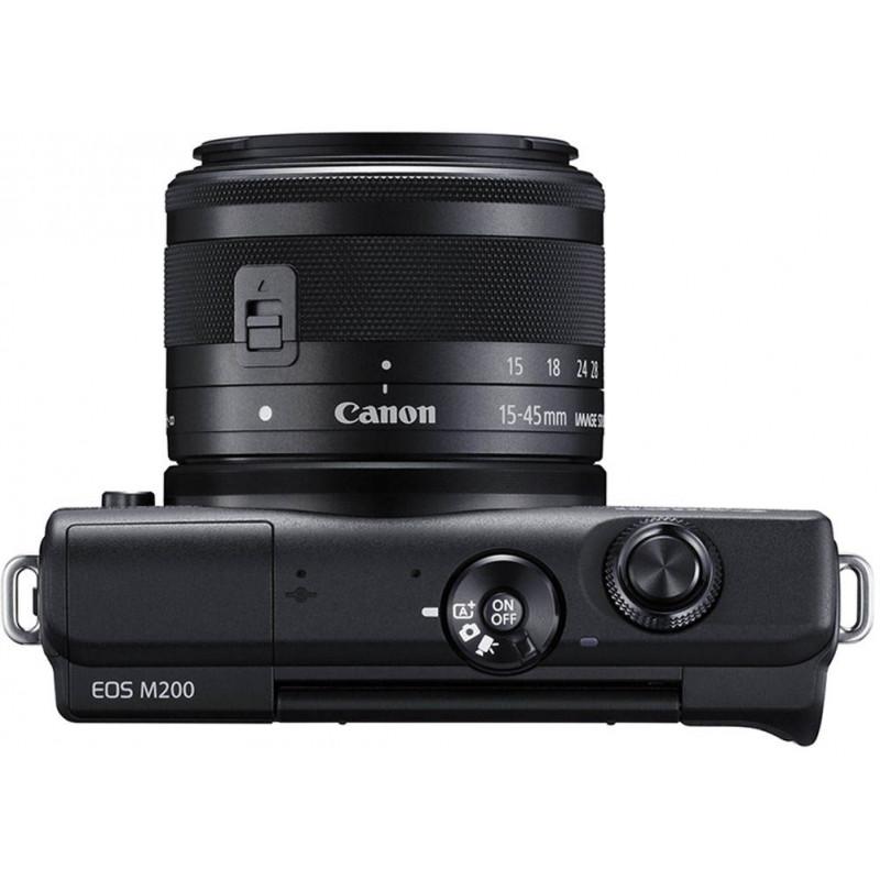 Canon EOS M200 + EF-M 15-45 мм + 55-200 мм IS STM, черный