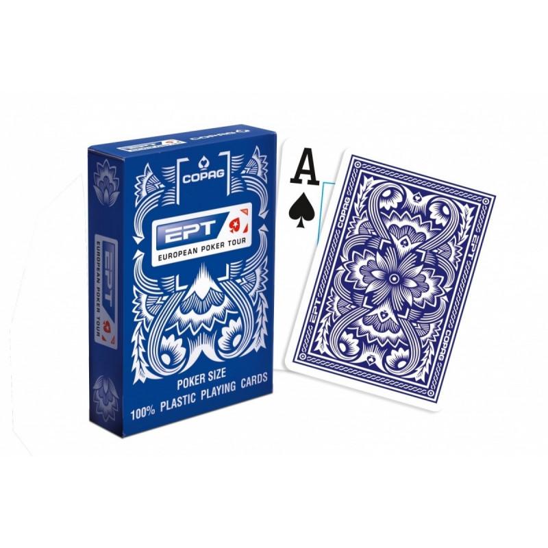 Cards COPAG EPT 100% plastic blue