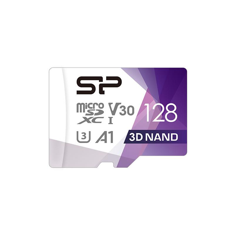 Silicon Power mälukaart microSDXC 128GB Superior Pro V30 + adapter