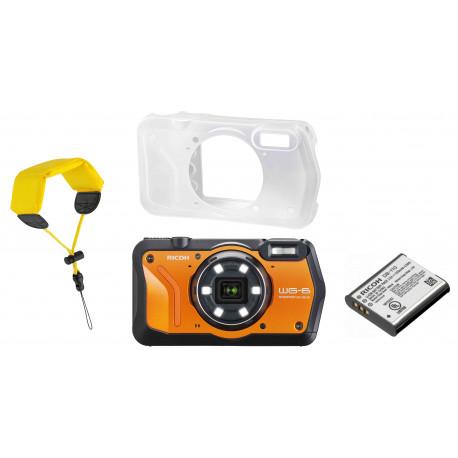 Ricoh WG-6 Kit, oranžs (rezerves akumulators+ aizsargapvalks + peldošā siksna)