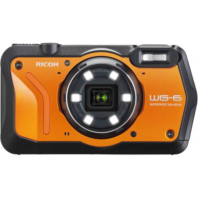 Ricoh WG-6 Kit, oranž (lisaaku + vutlar + ujuv randmerihm)