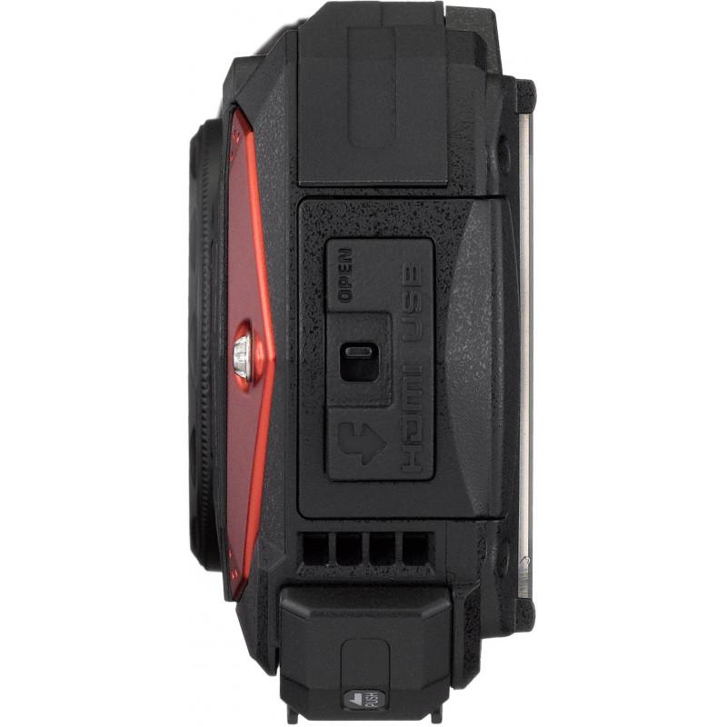 Ricoh WG-60 Kit, punane (lisaaku + vutlar + ujuv randmerihm)