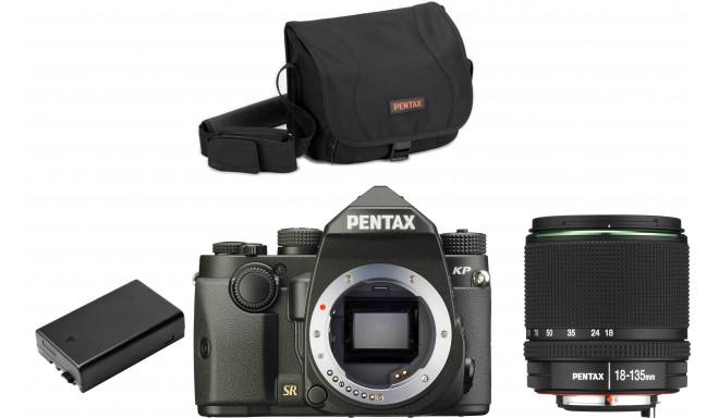 Pentax KP + 18-135mm + camera bag + extra battery, черный