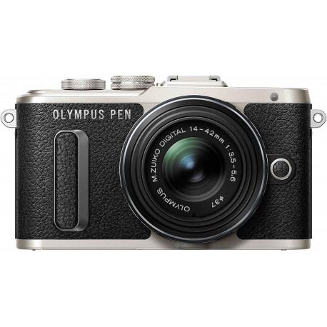 Olympus PEN Lite E-PL8 + 14-42mm II R Kit, melns