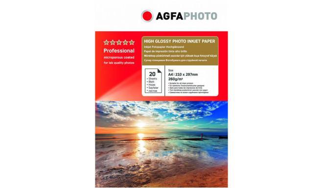 Agfaphoto фотобумага A4 Professional High Glossy 260 г 20 листов