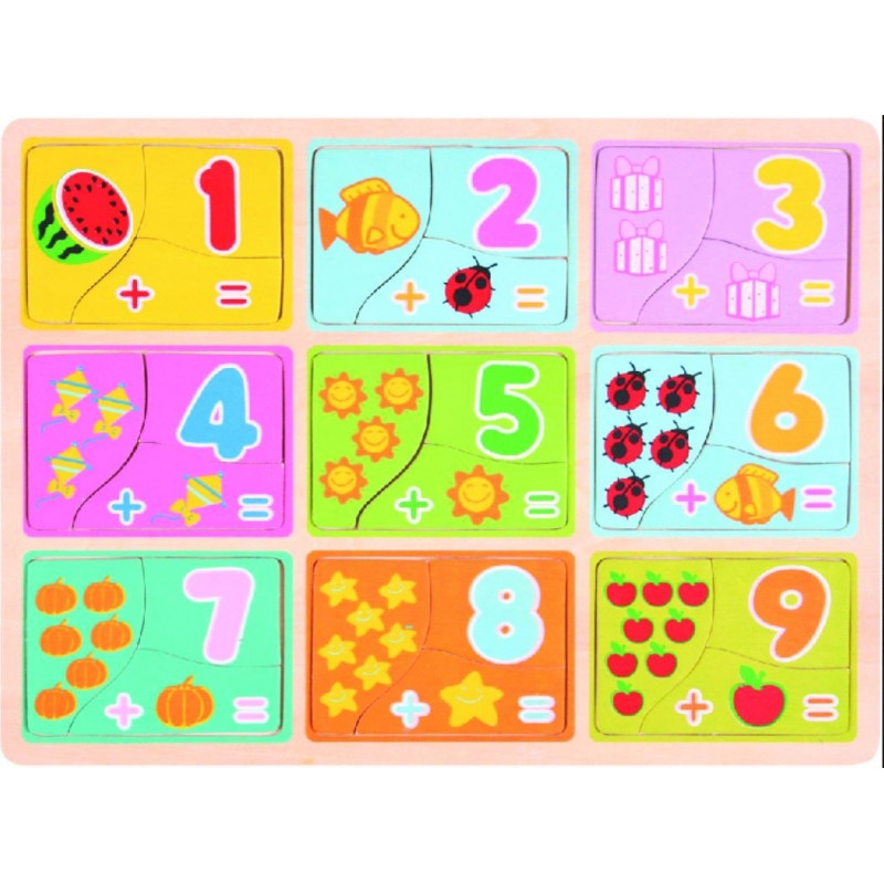 Brimarex TOP BRIGHT Wood en puzzle Learning to c