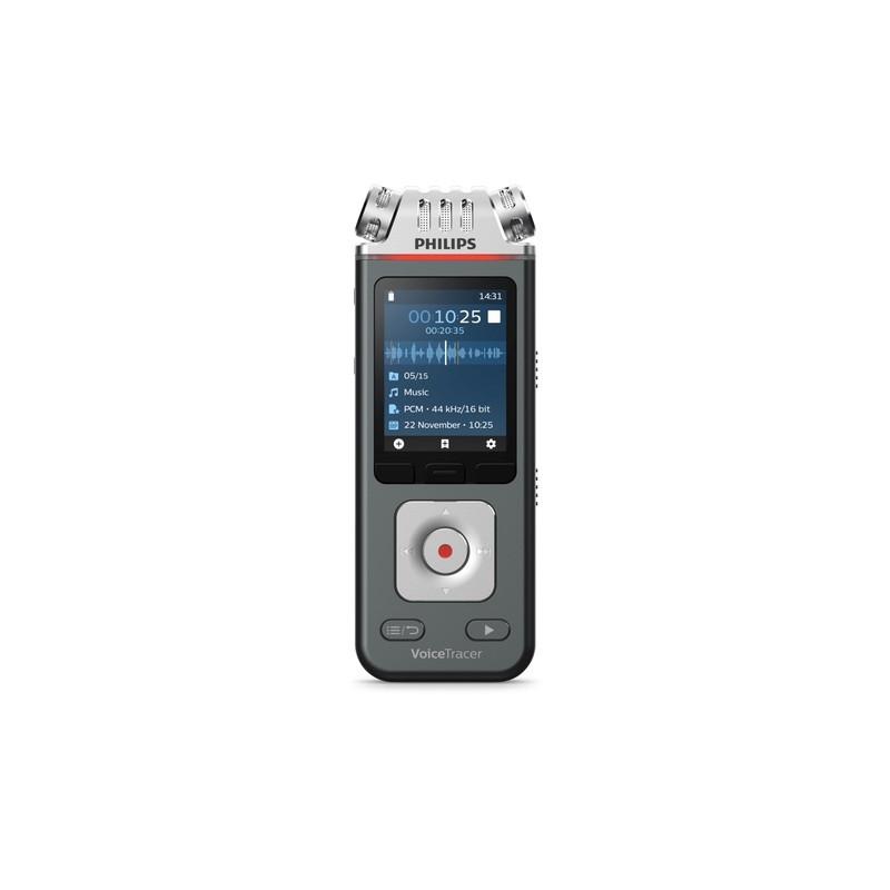 AUDIO RECORDER PHILIPS DVT6110 8GB USB (DARK GRAY)
