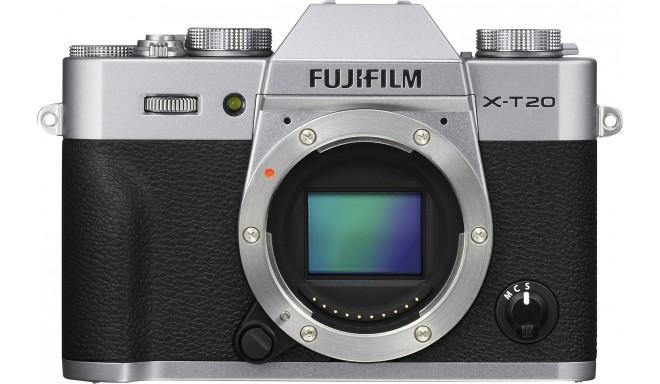 Fujifilm X-T20 korpuss, sudrabots