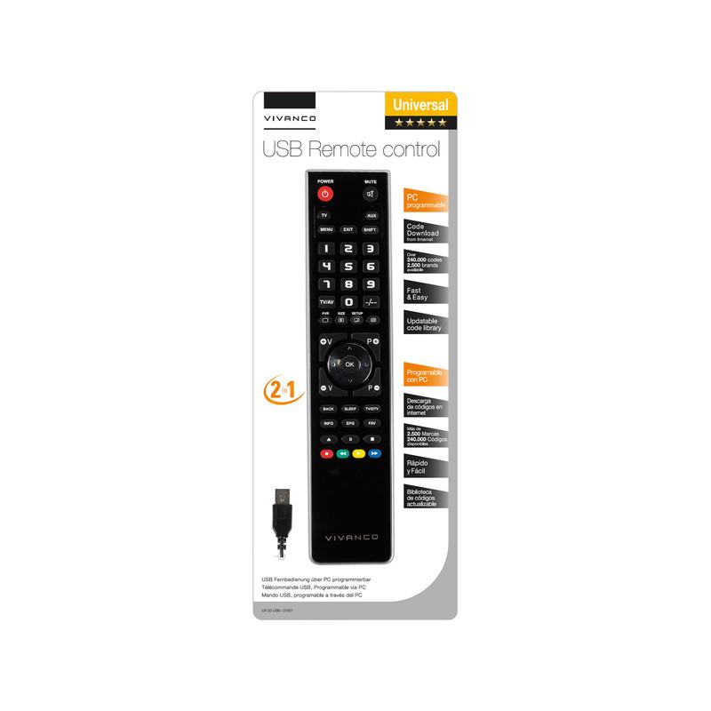 Vivanco remote control 2in1 (37601), black