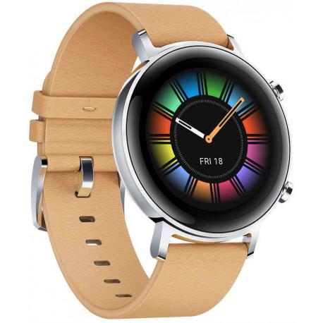Huawei Watch GT 2 42mm, haki krāsas āda
