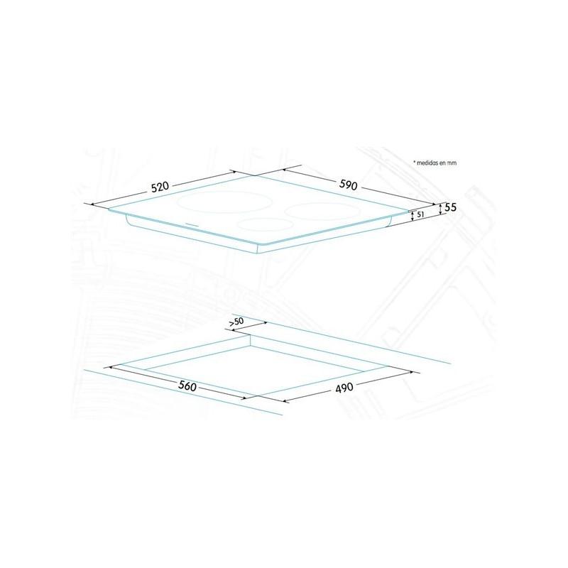 Edesa integreeritav induktsioonpliidiplaat EIHR-6330 A