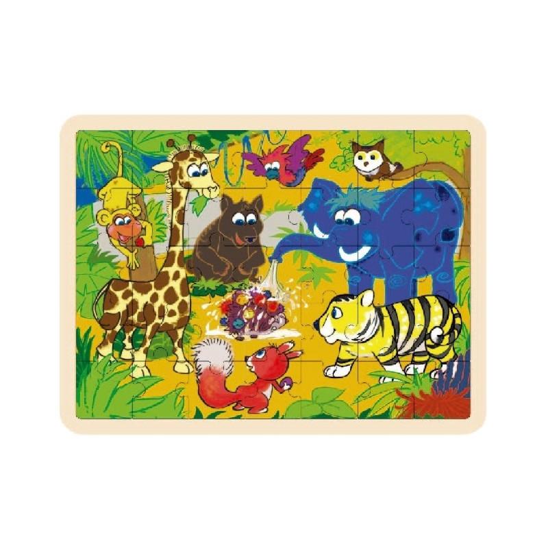 Brimarex TOP BRIGHT Wood en puzzle Jungle 35 pcs