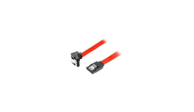 """LANBERG CA-SASA-13CC-0030-R Lanberg cable SATA DATA II (3GB/S) F/F 30cm; METAL CLIPS ANGLED RED"""