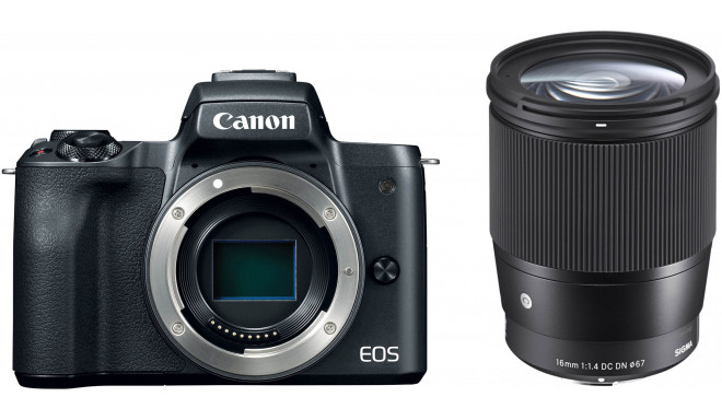 Canon EOS M50 + Sigma 16mm f/1.4, must