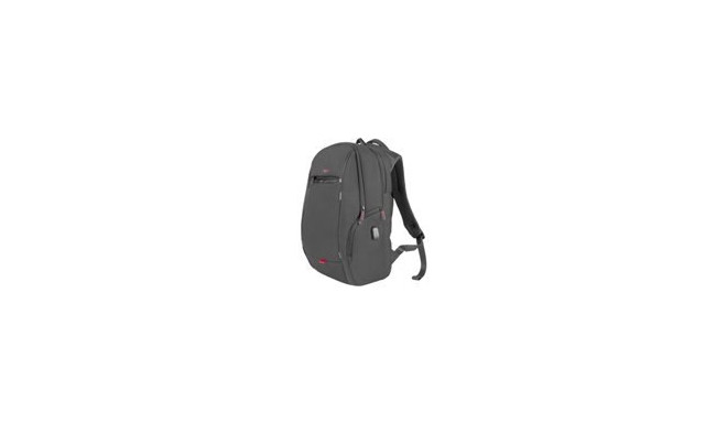 """NATEC NBG-1121 GENESIS notebook backpack PALLAD 400 + USB; Black 15,6"""