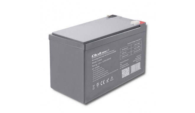 Qoltec battery AGM 12V 12Ah