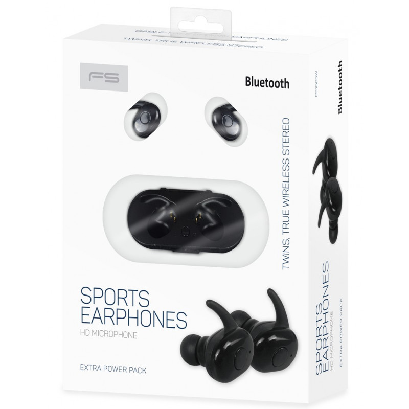 Omega juhtmevabad kõrvaklapid + mikrofon Freestyle FS1083, must