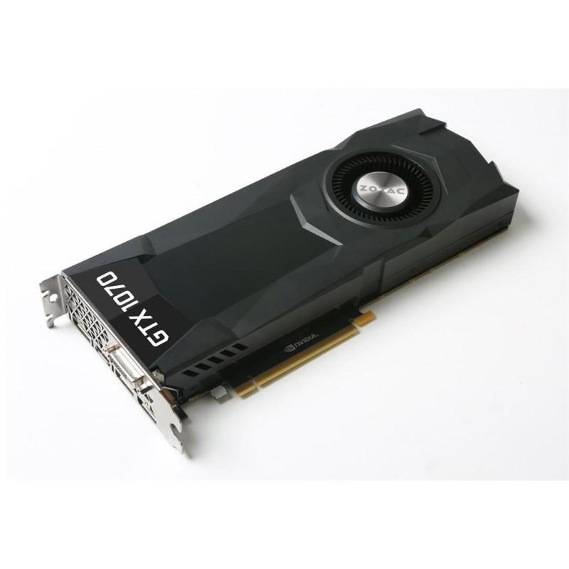 ZOTAC GeForce GTX 1070, Blower, 8GB GDDR5 (256 Bit), HDMI, DVI, 3xDP, BULK