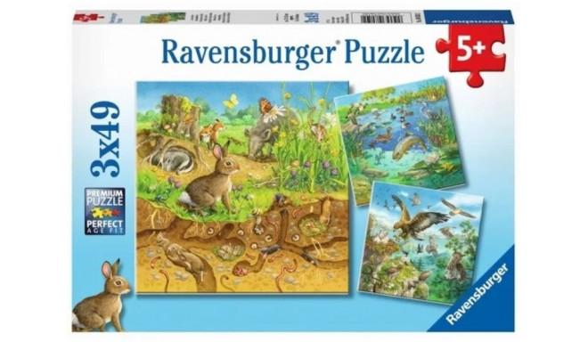 Ravensburger puzzle Animals 3x49pcs