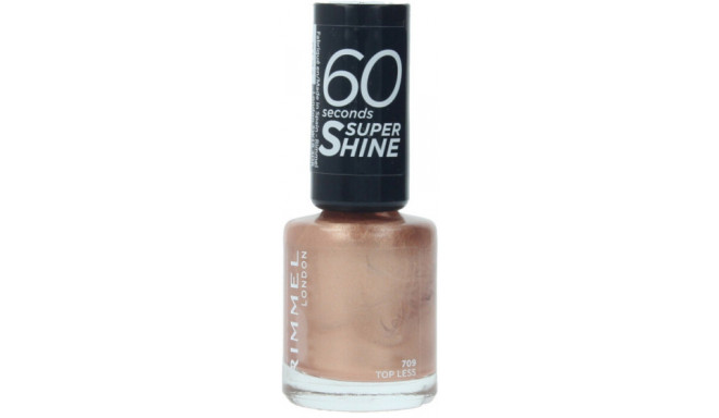 Rimmel London nail polish 60 Seconds Super Shine 709 Top Less 8ml