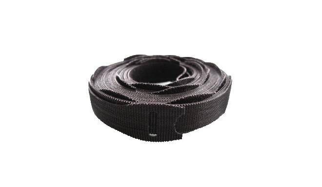 1/2` x 8` Rip-Tie Lite PLUS, 50 Pack, Black & Grey (25+25)